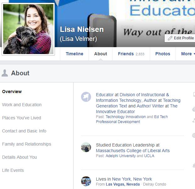 lisa nielsen the innovative educator an innovative educator s rh theinnovativeeducator blogspot com Facebook Background Images Teacher School Teacher Facebook