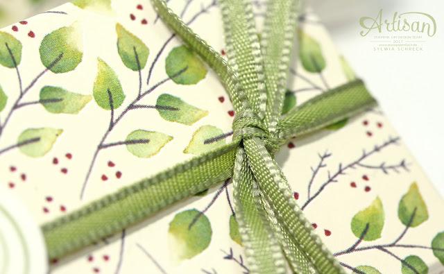 Stampin up-Feines Geschenkband-Olivgrün