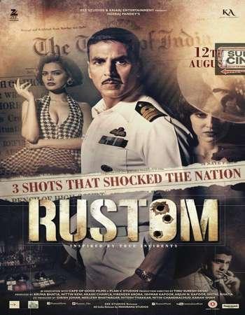 Poster Of Rustom 2016 Hindi 600MB BRRip 720p ESubs HEVC Watch Online Free Download
