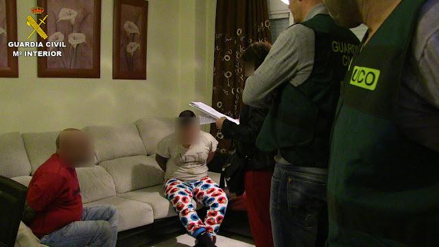 Momento de la detención de los presuntos autores del secuestro y asesinato del empresario de Illescas. IMAGEN GUARDIA CIVIL
