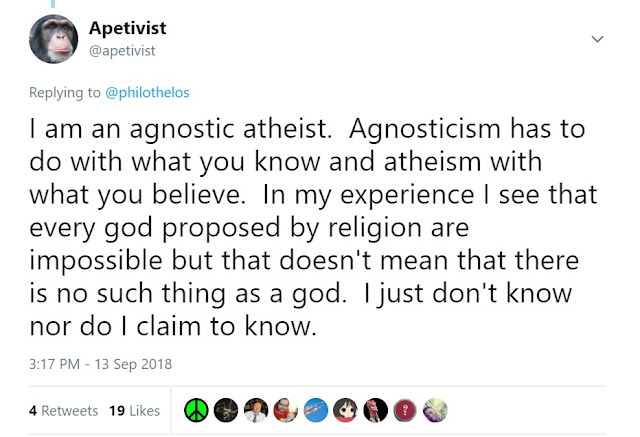 I am an agnostic atheist