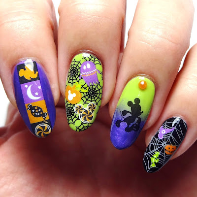 Disney Halloween Nails