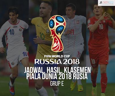 Jadwal, Hasil, dan Klasemen Grup E : Piala Dunia 2018