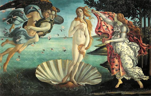 Sandro Botticelli - El nacimiento de Venus - 1484