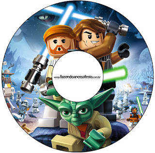 Etiquetas de Star Wars Lego para CD's.