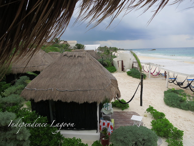 beach bungalow in Tulum Mexico