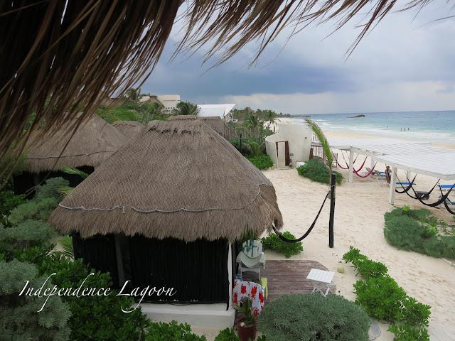 beach bungalow in Tulum Mexico