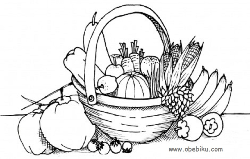 Gambar Mewarnai Sayuran Dan Buah
