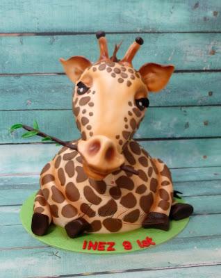 tort z żyrafą