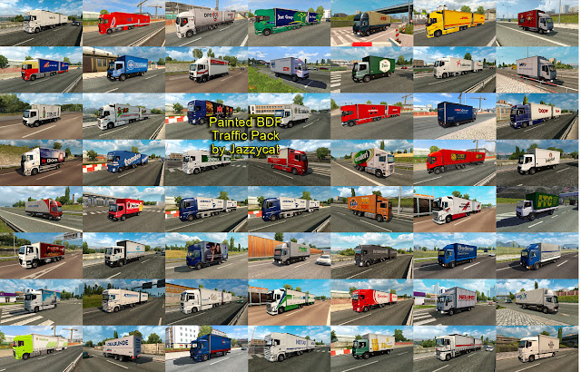 ets 2 painted bdf traffic pack v5.2 screenshots 3