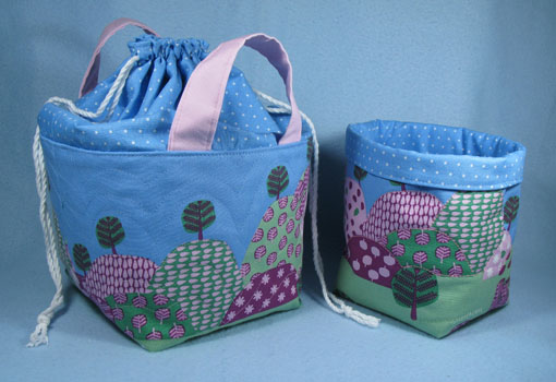 Fabric Baskets for the girls ~ Threading My Way