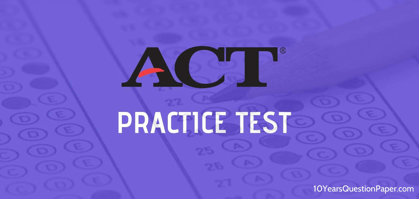 American College Testing (ACT) Practice test