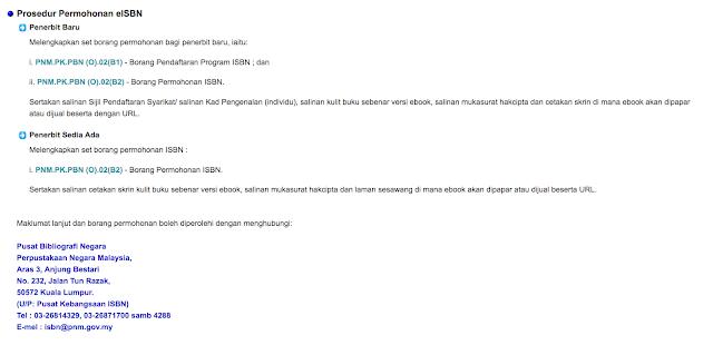 Senangnya Cara Daftar eISBN Untuk Terbitkan Ebook Sendiri