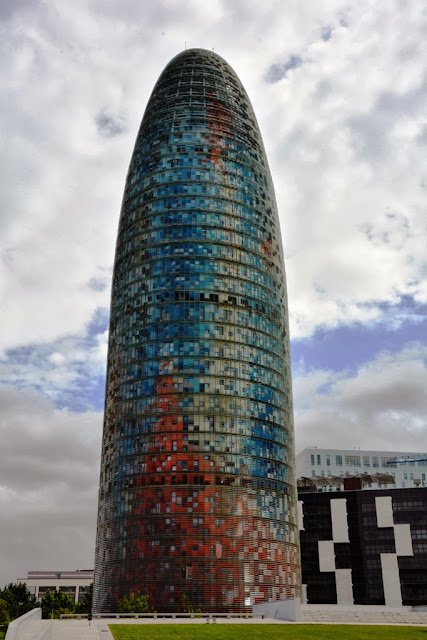 Modern buildings of Barcelona Torre Agbar