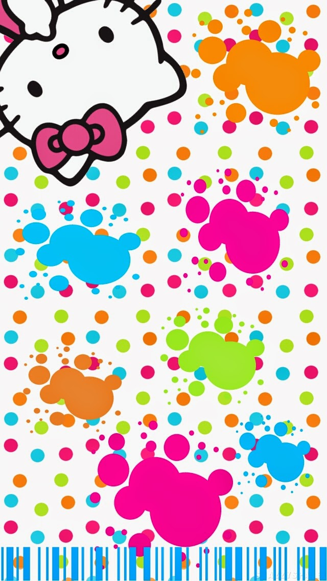 Dazzle My Droid Freebie Kitty Full Of Color Wallpaper