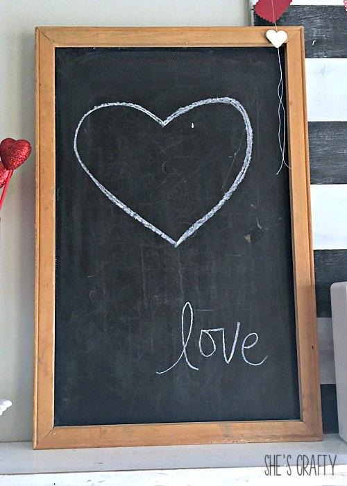 heart chalkboard, vintage chalkboard