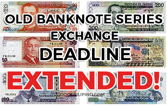 Bangko Sentral resets deadline for exchanging old peso banknotes to Dec. 29