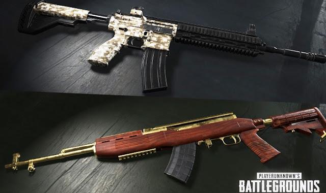 Senjata AKM vs SCAR-L vs M16A4 vs M416 PUBG Mobile