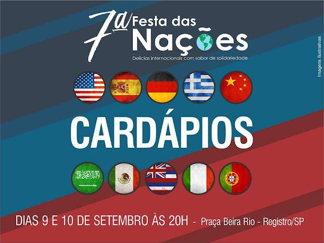 A Festa das Nações é neste fim de semana em Registro-SP
