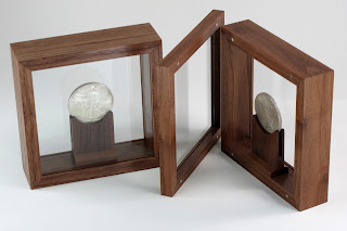 Custom Coin Display Case of Walnut