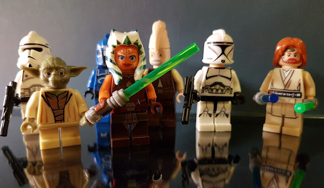 The Jedi Yoda, Ahsoka, Ki-Adi-Mundi and Obi-Wan Kenobi Star Wars