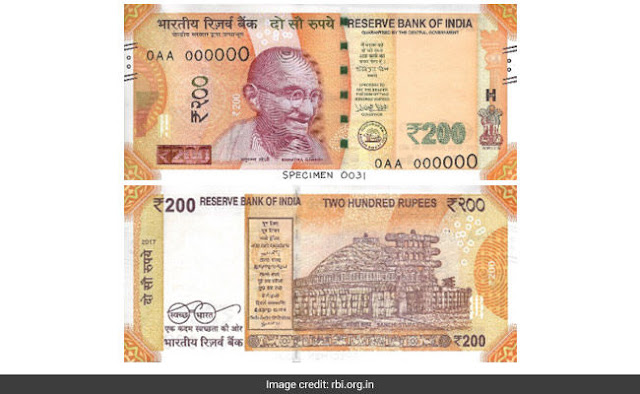 New 200 rupees note