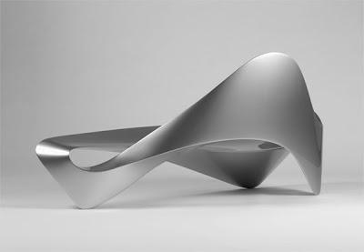 Sofá con un estilo muy futurista