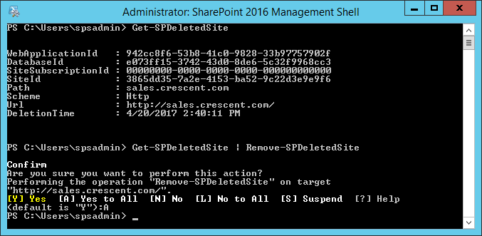 sharepoint 2013 delete host named site collection