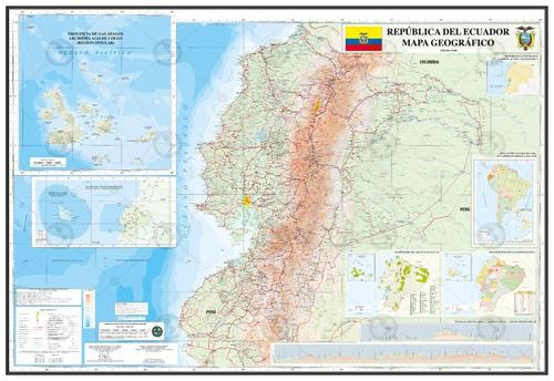 mapa geografico ecuador