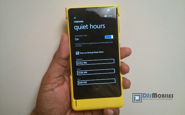 How to enable Quite Hours on Windows Phone 8.1