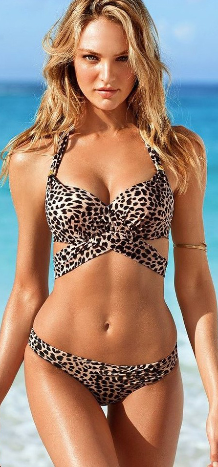 I like this. Do you think I should buy it? #animal #print #swimwear