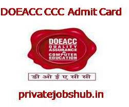 DOEACC CCC Admit Card