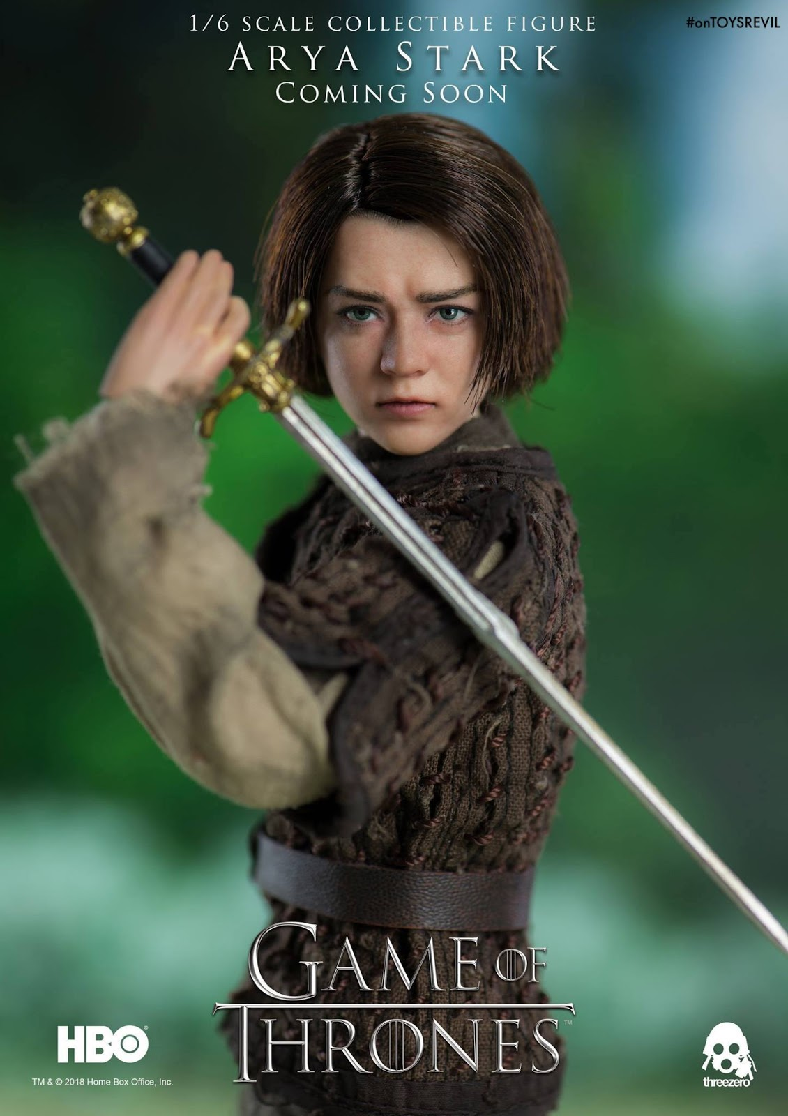414ff61bbe1e0 Threezero to do GAME OF THRONES' ARYA STARK in 1/6th