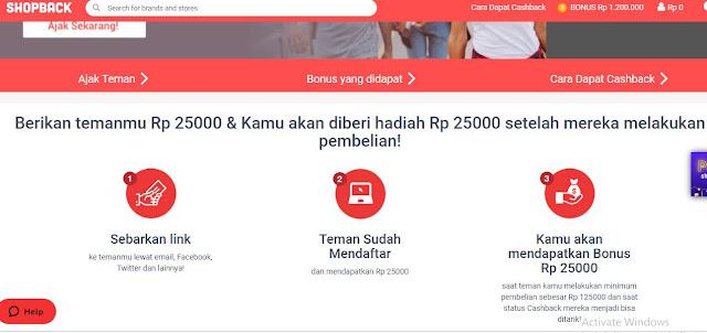 Cara Mendapatkan Cash Back Uang dari ShopBack dengan Berbelanja di Blanja.com