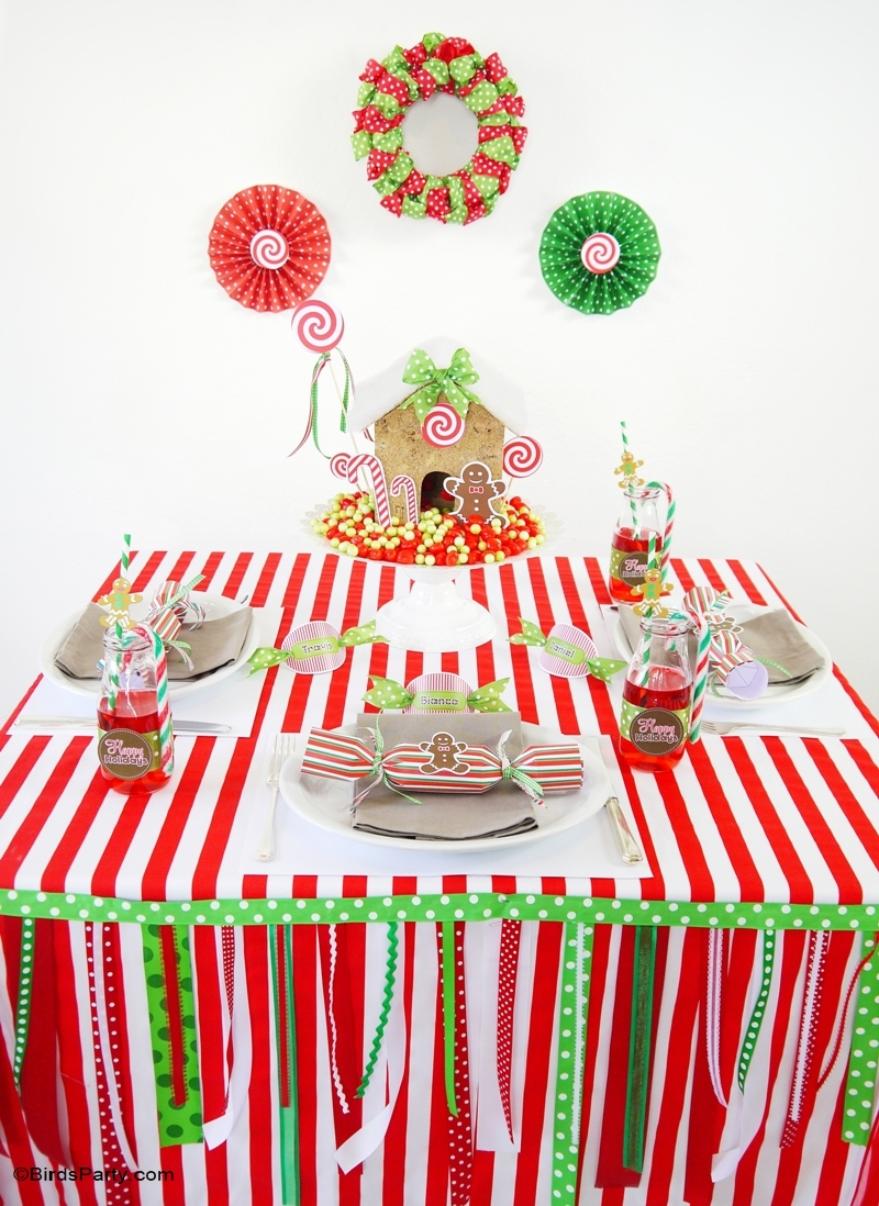 Candyland Christmas Tablescape | Kids Holiday Table ...