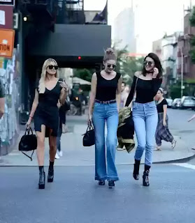 Kendall Jenner steps out with models Gigi Hadid and Hailey Baldwin in New York