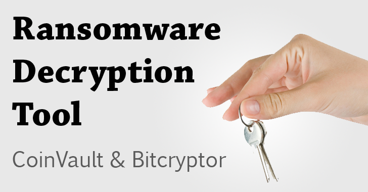 Free Ransomware Decryption Tool — CoinVault and Bitcryptor