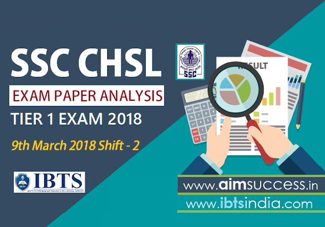 SSC CHSL Tier-I Exam Analysis 9th March 2018 Shift - 2