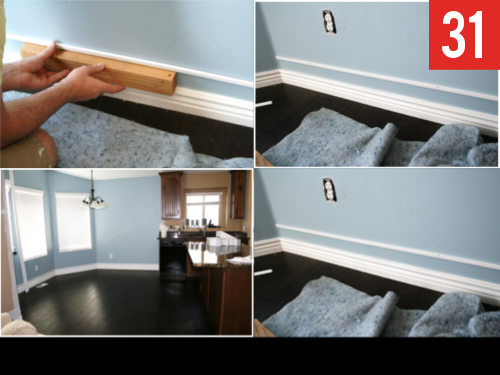 Add a strip of trim to pretty up your baseboards