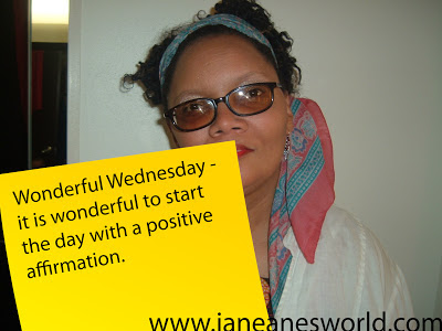 "Start the Day with Positive Affirmation- I believe that our words have power and that by saying things out loud we make it possible for things to happen. For that reason, I try to hard keep negative comments from coming out of my mouth. When they do slip out, I try to immediately utter positive words to cancel them out. (I guess all that algebra was good for something).  I have spent a great deal of time teaching each of my children to start each day with positive affirmations.  This is what I taught them to say (substituting their own names of course), ""My name is Janeane Davis and I love me. God loves me and I am special."""