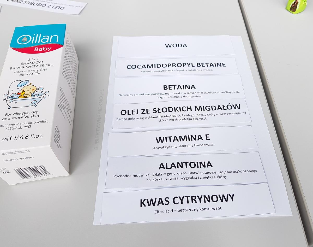 Relacja See Bloggers Łódź 2018 - warsztaty skład kosmetyków Oillan