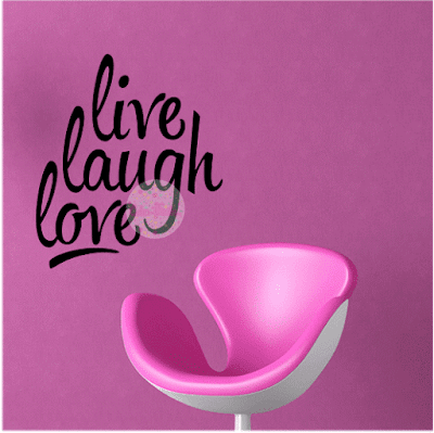 vinilo decorativo frase live laugh love