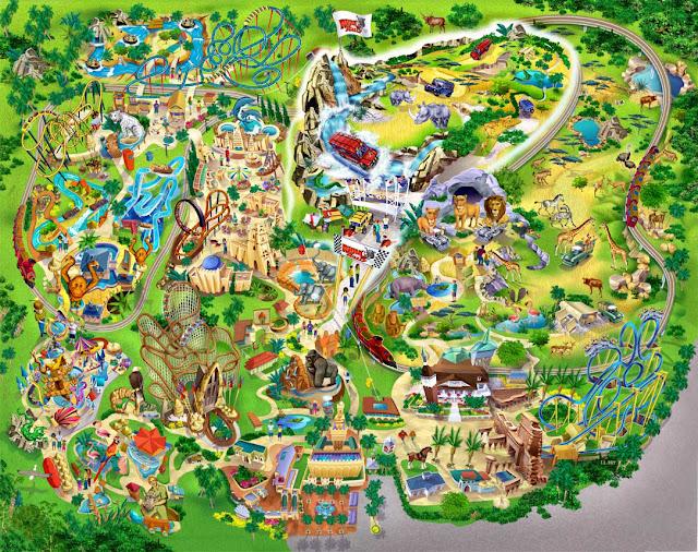 Parque Busch Gardens Mapa