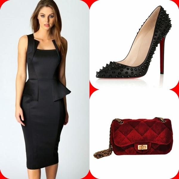 1658087b8e3a2 Elbise:Sheinside Çanta:Chicnova Ayakkabı:Chicnova
