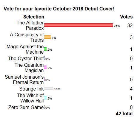 2018 Debut Author Challenge Cover Wars - October Winner