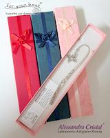 segnalibro metallo scatola regalo