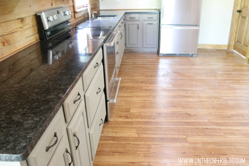 Kitchen countertop is granite from Stoneworks & Home Depot!