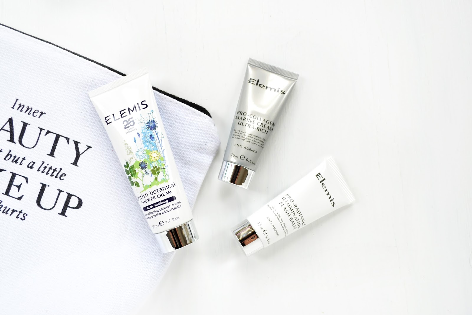 elemis skincare and body products