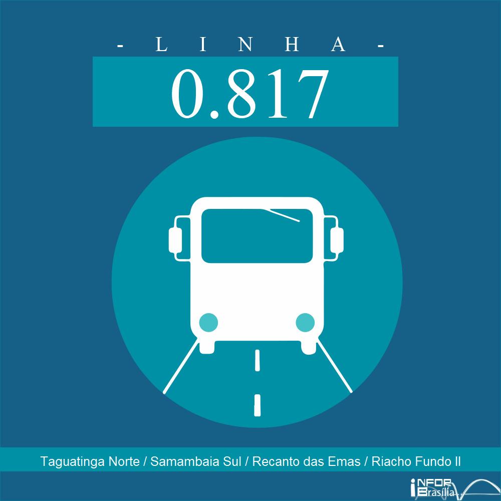 Horário de ônibus e itinerário 0.817 - Taguatinga Norte / Samambaia Sul / Recanto das Emas / Riacho Fundo II