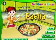 juegos de cocinar sara cooking paella